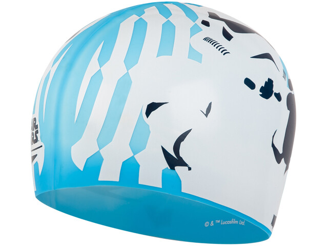 speedo Slogan Bonnet à motif Enfant, blue/white/grey
